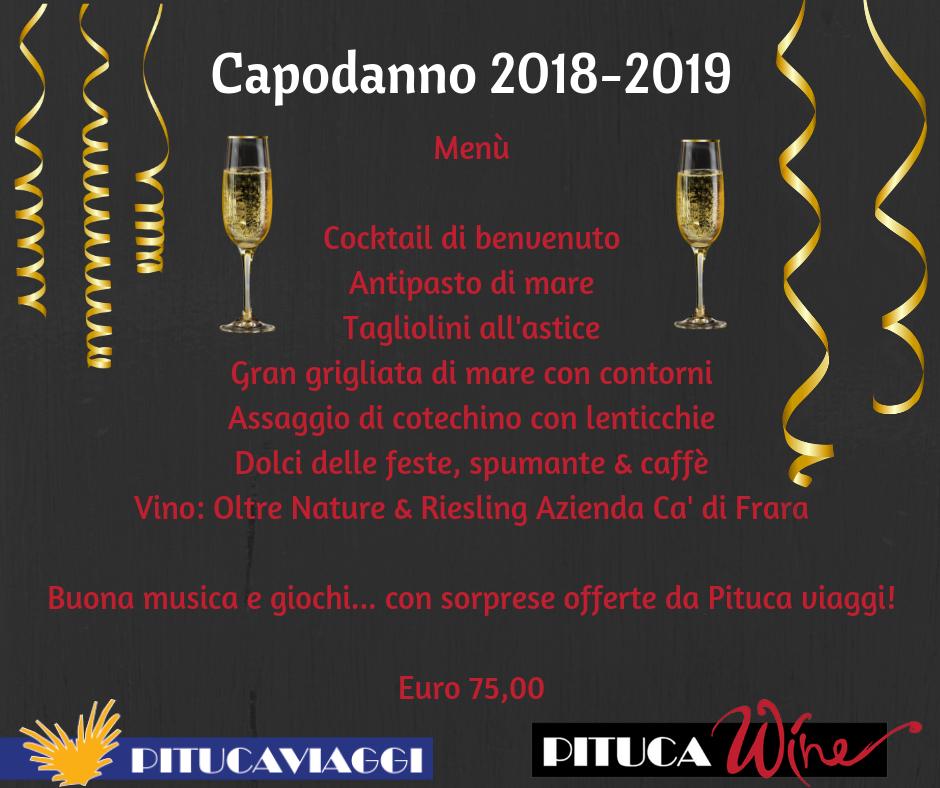 Menù capodanno 2018 pitucawine livorno - menù mare
